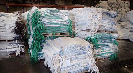 Lavado de big bags proceso 1