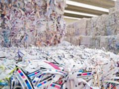 Subproducto papel y cartón Selectiva clasificada destintable