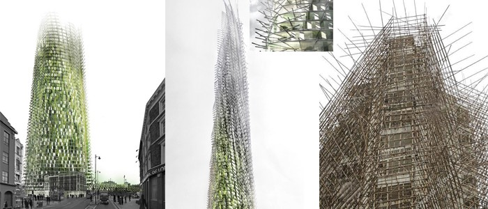 Organic skyscrapper by Chantier-Corbasson architecs